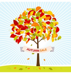 Autumn sale theme vector