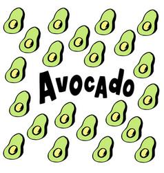 Avocado typography lettering logo on vector