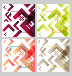Background with abstract square pattern and vector