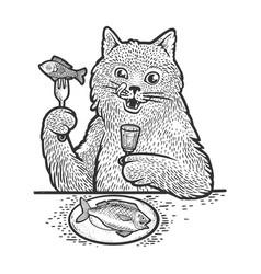 behemoth cat sketch vector image