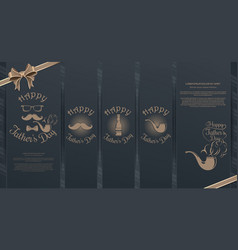 Big collection of elegant banners for fathers day vector