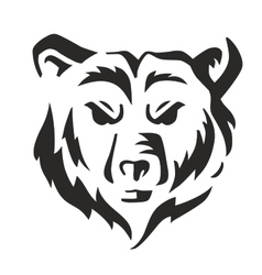 Black bear vector