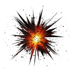 Black isolated star explosion with particles vector