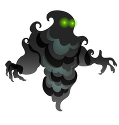 Black specter in form clouds smoke vector