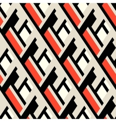 Bold pattern with architectural motifs vector