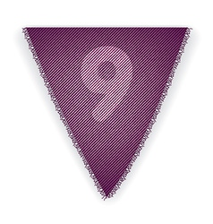Bunting flag number 9 vector