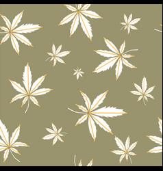 Cannabis - seamless background vector