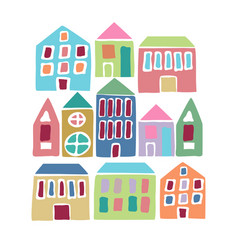 Cartoon colorful houses vector
