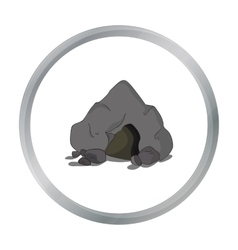 Cave icon in cartoon style isolated on white vector