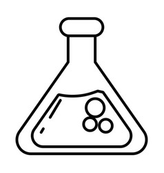 chemistry beaker glass cartoon vector image
