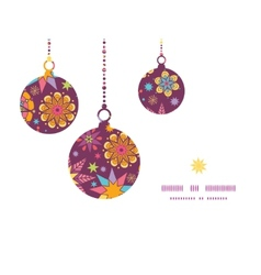 Colorful stars Christmas ornaments silhouettes vector
