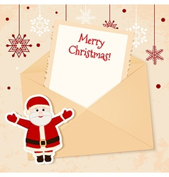 Congratulation gold retro background with Santa vector