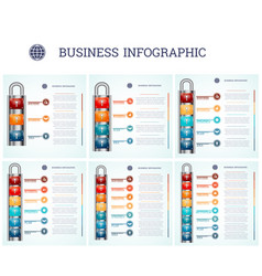 creative conceptual business infographics vector image