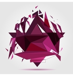 Crushed geometric object vector