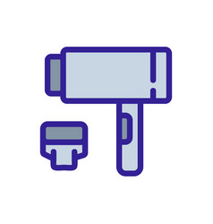 Dryer with removable extension icon outline vector