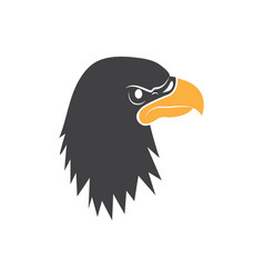 eagle head graphic design template isolated vector image