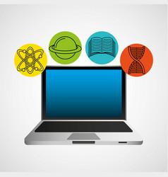 Education online concept icon vector