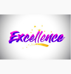 Excellence purple violet word text with vector