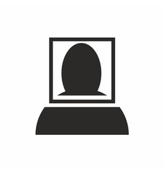 facial recognition scan icon vector image