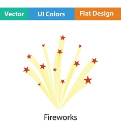 Fireworks icon vector