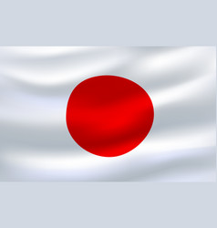 Flag of japan 3d icon waving in the wind vector