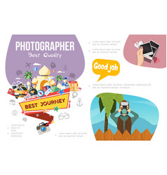 flat photography infographic concept vector image