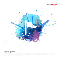 Flat pictogram icon - watercolor background vector