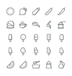 Food Cool Icons 6 vector