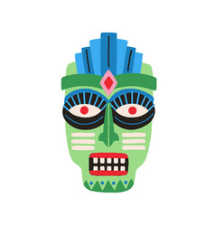 funny ethnic zulu tribal mask showing teeth in vector image