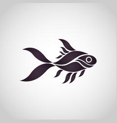 goldfish logo icon vector image