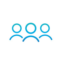 group of people or group of users friends line vector image