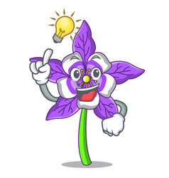 Have an idea columbine flower mascot cartoon vector