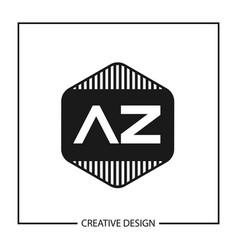 Initial letter az logo template design vector