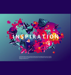 inspiration trendy poster presentation cover vector image