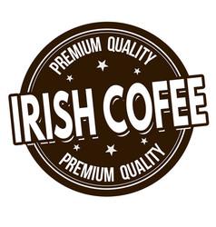 irish coffee sign or stamp vector image