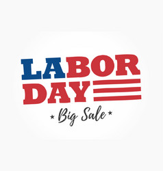 Labor-day-big-sale-logo vector