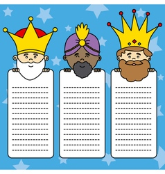 Letter to the Three Kings vector image