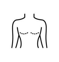Mastectomy line icon vector