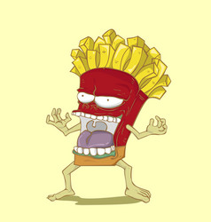 Monster french fries vector