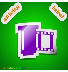 negative films icon sign Symbol chic colored vector image