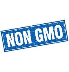 Non gmo blue square grunge stamp on white vector