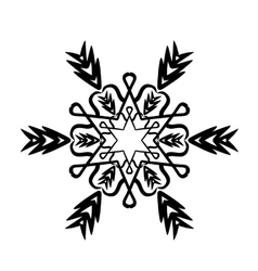 Ornament black white card with mandala vector image