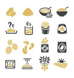 Potato icon vector
