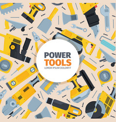 power tools background yellow reversible vector image