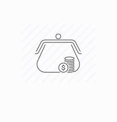 purse icon isolated vector image