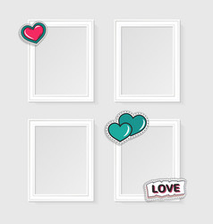 Realistic photo frames vector