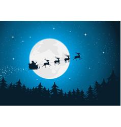 santas sleigh vector image