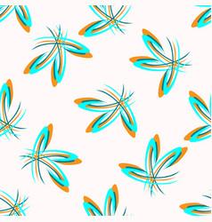 Seamless floral polka dot retro geometric vector