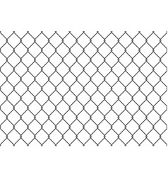 seamless metal chain link fence wire fence vector image
