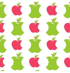 Seamless pattern with green and red apples vector